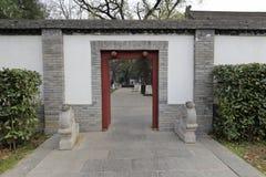 A porta lateral do templo famoso no inverno, adôbe rgb do jianfusi Imagem de Stock
