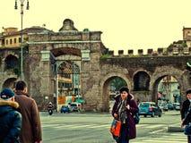 Porta Maggiore Rome, Italie Photos libres de droits