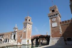 The Porta Magna at the Venetian Arsenal Stock Photography
