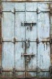 Porta manchada do metal Foto de Stock