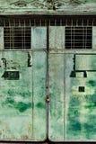 Porta manchada do metal Imagem de Stock Royalty Free