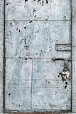 Porta manchada do metal Fotografia de Stock Royalty Free