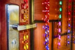 Porta & maniglia con la serratura Immagini Stock