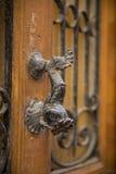 Porta-manopola arrugginita Fotografie Stock Libere da Diritti