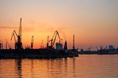 Porta in Mar Nero Immagini Stock Libere da Diritti