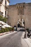 Porta Marina. Syracuse, Italy.  Ancient city gate, Porta Marina, in ortigia Stock Images