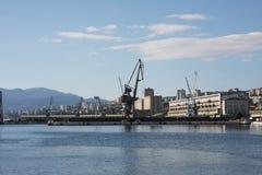 Porta marinha da cidade Rijeka, Croatia Imagens de Stock Royalty Free