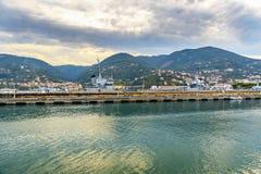 Porta Marola morska baza w losie angeles Spezia, Liguria, Włochy obraz royalty free