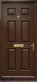 Porta marrom clássica isolada Foto de Stock Royalty Free