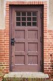 Porta marrone antica Fotografie Stock Libere da Diritti