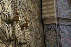 Porta marroquina #3 fotografia de stock