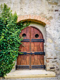 Porta medieval imagem de stock