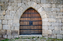 Porta medieval do castelo Fotografia de Stock Royalty Free