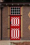 Porta medieval listrada de madeira Imagem de Stock Royalty Free