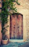 Porta medievale immagine stock