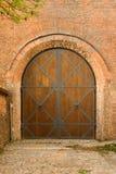 Porta medievale del castello Immagine Stock
