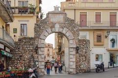 Porta Messina - Taormina arkivfoto