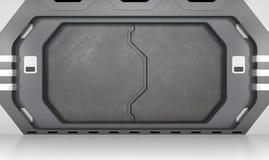 Porta metálica futurista ilustração do vetor