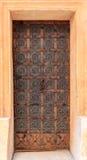 Porta modellata del ferro battuto Fotografia Stock Libera da Diritti