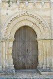 Porta molto vecchia della chiesa Immagini Stock