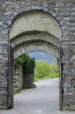 Porta Montanina i vägg runt om Cortona Fotografering för Bildbyråer