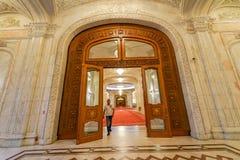 Porta monumental para o palácio de Ceausescu fotografia de stock royalty free