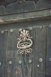 Porta na casa búlgara tradicional velha Fotos de Stock