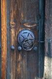 Porta na casa búlgara tradicional velha Imagem de Stock