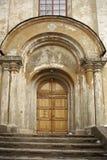 Porta na igreja ortodoxal grega Imagem de Stock