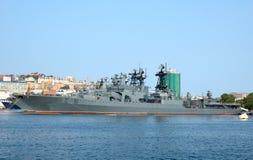 Porta naval Vladivostok do russo. Fotografia de Stock
