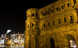 Porta negra in trier at night Stock Image