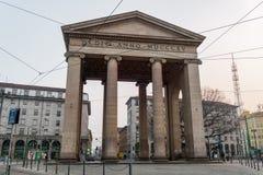 Porta neoclássico da cidade de Milão, Itália Porta Ticinese Fotografia de Stock Royalty Free
