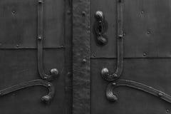 Porta nera Immagini Stock