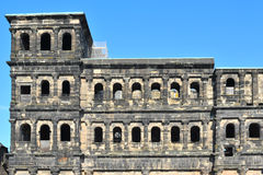 The Porta Nigra. Or Black Gate - a 2nd century Roman city gate in Trier, Germany Royalty Free Stock Photo