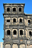 The Porta Nigra. Or Black Gate - a 2nd century Roman city gate in Trier, Germany Stock Photos