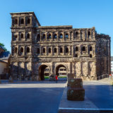 Porta Nigra - Black Gate at Night, Trier Stock Photography