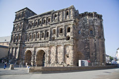 The Porta Nigra (Black Gate), Trier Stock Images