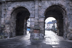 Porta Nigra czerni brama - duży i konserwujący a Obraz Royalty Free