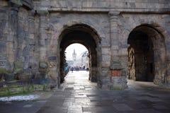 Porta Nigra czerni brama - duży i konserwujący Zdjęcie Royalty Free