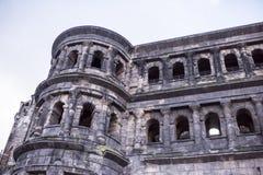 Porta Nigra czerni brama - duży i konserwujący Zdjęcia Royalty Free