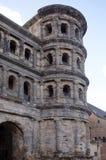 Porta Nigra czerni brama - duży i konserwujący Obraz Royalty Free