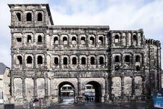 Porta Nigra czerni brama - duży i konserwujący Zdjęcie Stock