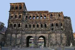 Porta Nigra entrance gate town Trier. The Roman ruin Porta Nigra in Trier Germany one of the oldest buildings in Europe Royalty Free Stock Image
