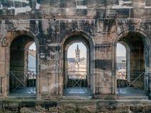 Porta Nigra interior in Trier Royalty Free Stock Photo