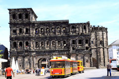 Porta Nigra monument from Roman times city of Trier German Royalty Free Stock Photo