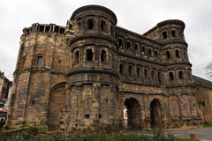 Porta Nigra in Trier. Germany, a famous Roman gate. Trier is the oldest city of Germany and was an important city in the Roman Empire Royalty Free Stock Photos