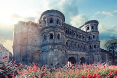 Porta Nigra in Trier, Rhineland-Palatinate, Germany.  stock images