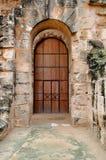 Porta no amphitheater romano antigo no EL Jem Fotografia de Stock Royalty Free