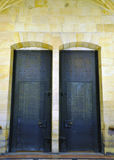 Porta no castelo em Praha maravilhoso Foto de Stock Royalty Free