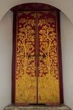 Porta no palácio grande Banguecoque Tailândia Fotografia de Stock Royalty Free